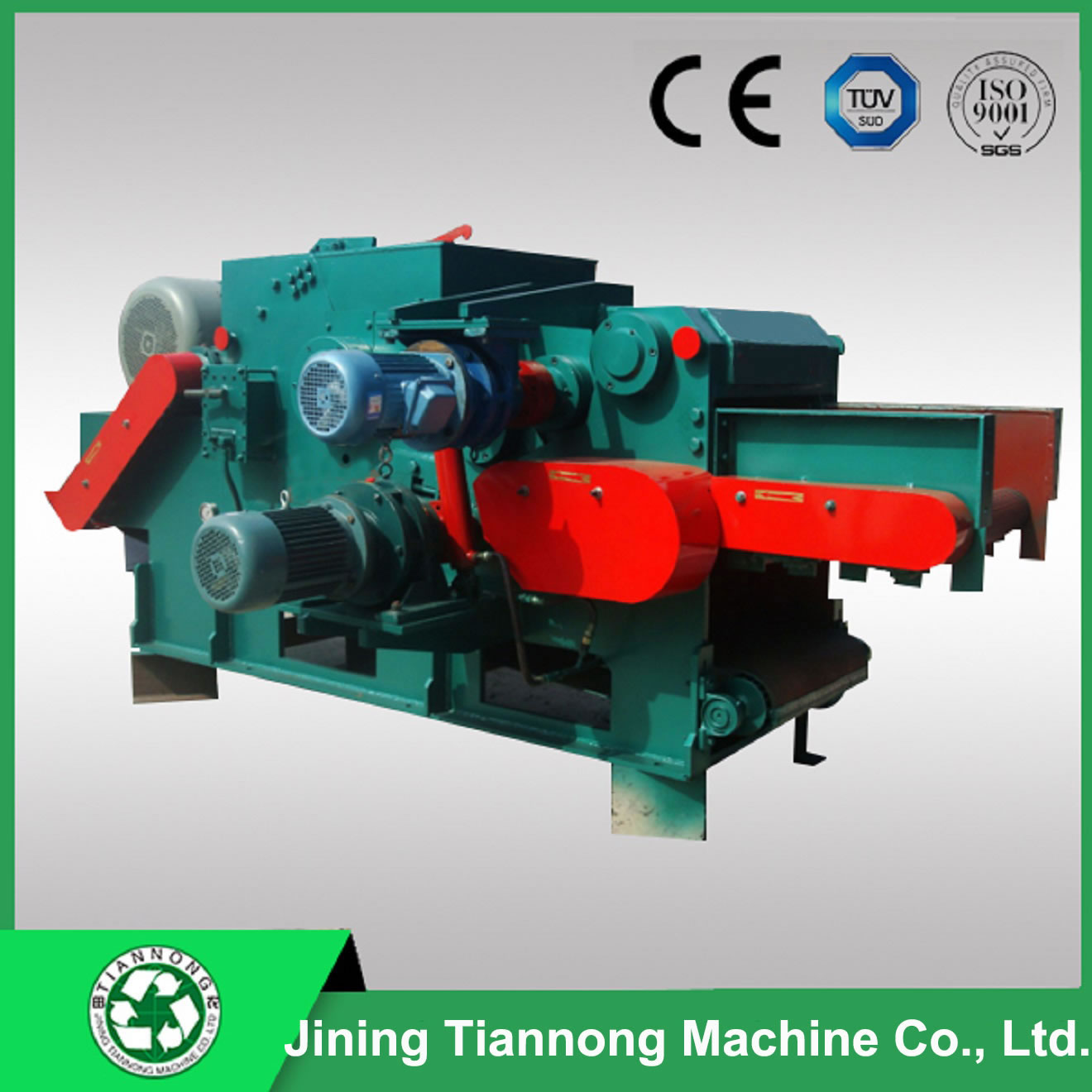 Wood chipper machine shredder